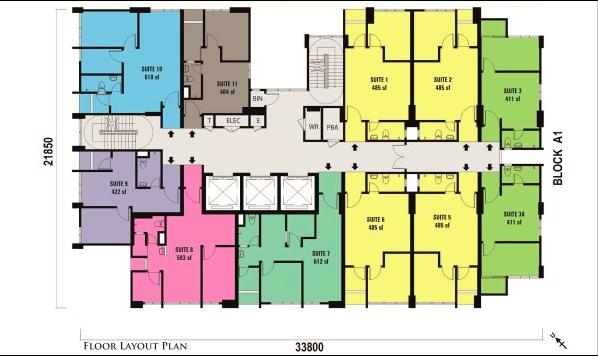 Straits Garden Commercial Suite Floorplan